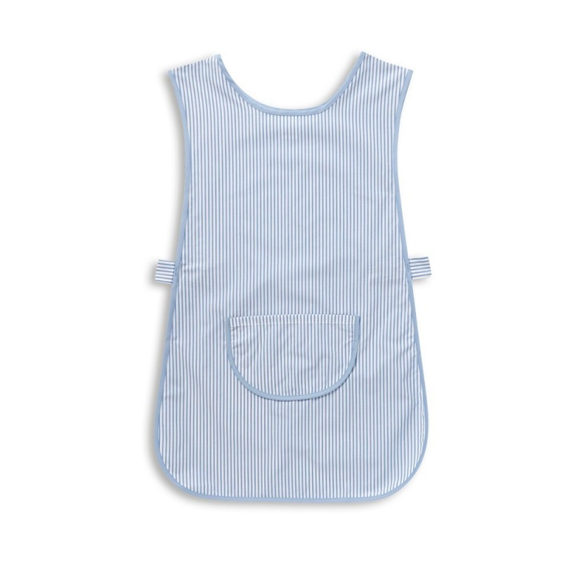 Thin Stripe Tabard with Pocket (Blue & White Pack of 1) - W240