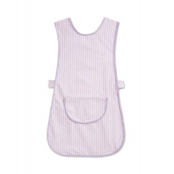 Thin Stripe Tabard with Pocket (Lilac & White Pack of 1) - W240