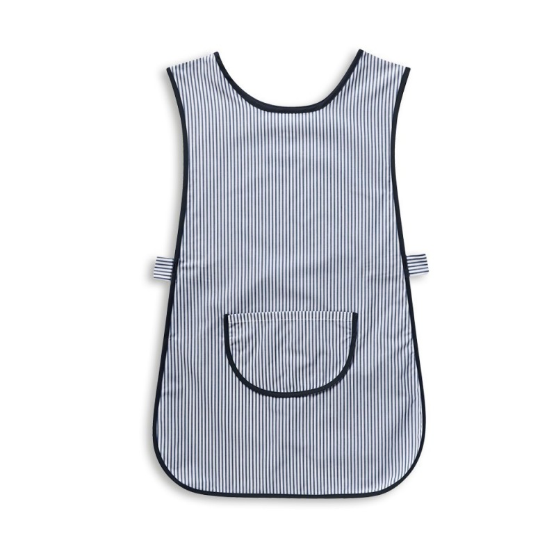 Thin Stripe Tabard with Pocket (Navy & White Pack of 1) - W240