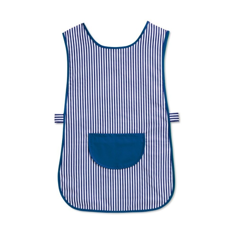Candy Stripe Tabard with Pocket (Blue & White Pack of 2) - W161