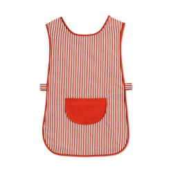Candy Stripe Tabard with Pocket (Red & White Pack of 1) - W161