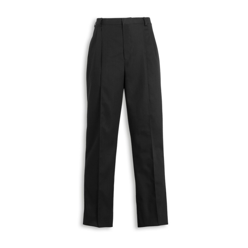 Mens Twin Pleat Trousers (Black) MT600