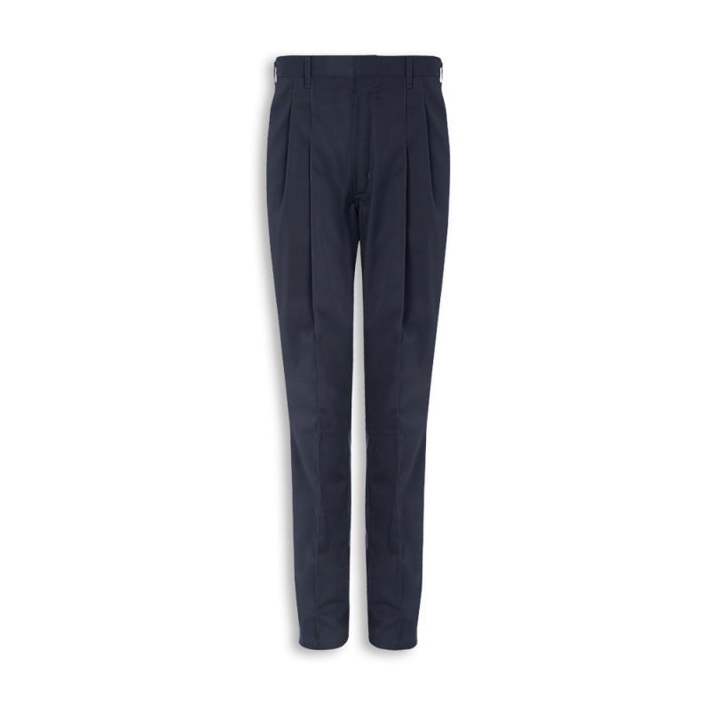Men's Pleat Front Trousers (Sailor Navy) - G104