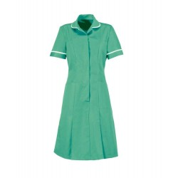 Zip Front Dress (Aqua Marine with White Trim) - HP297