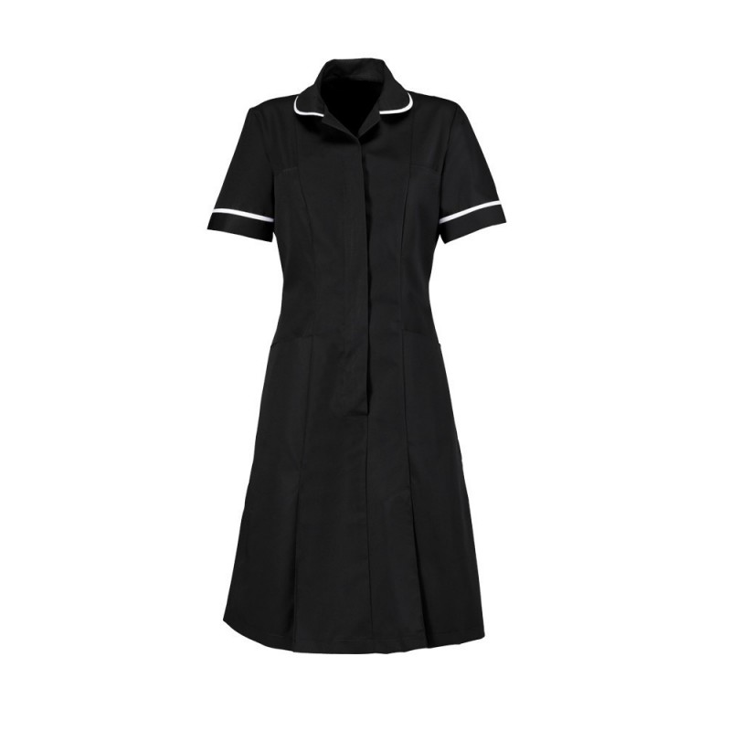 Zip Front Dress (Black) - HP297