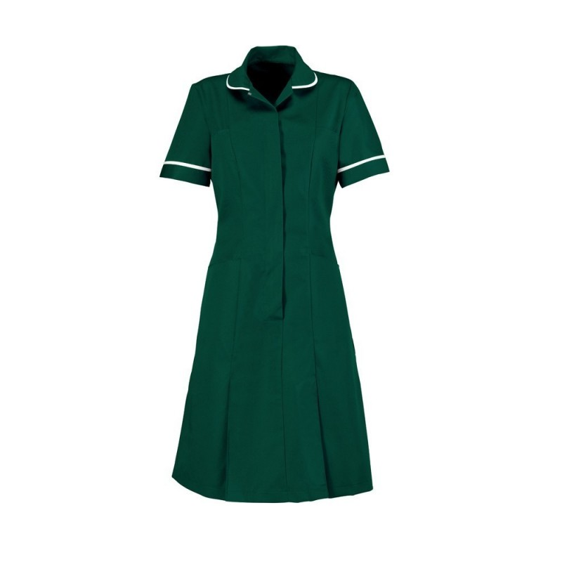 Zip Front Dress (Bottle Green) - HP297
