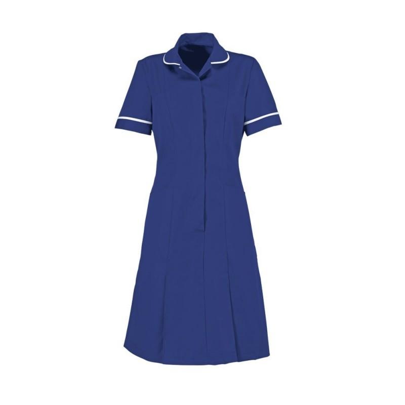 Zip Front Dress (Bright Royal) - HP297
