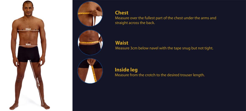 Men's Measuring Guide